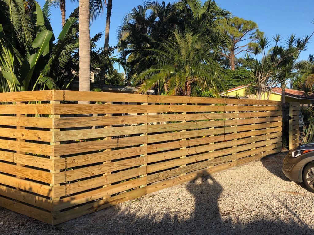 wood fences plantation